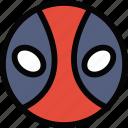 emoticon, emoji, deadpool, face