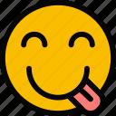 emoticon, emoji, silly, face
