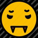 emoticon, emoji, vampire, face
