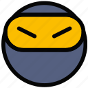 emoji, emoticon, face, ninja icon
