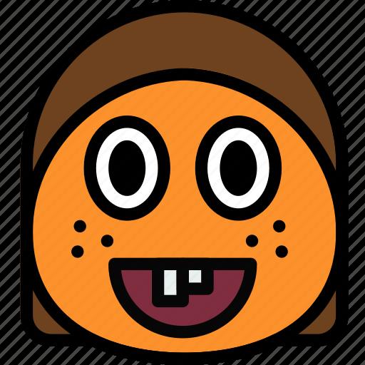 emoji, emoticon, face, ginger icon