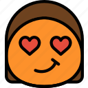 emoticon, emoji, admirer, face