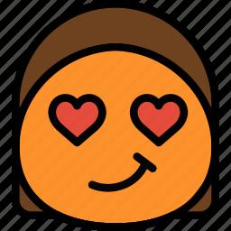admirer, emoji, emoticon, face icon