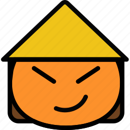 asian, emoji, emoticon, face icon