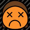 dead, emoji, emoticon, face