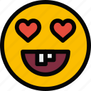 emoji, emoticon, face, fool, love icon