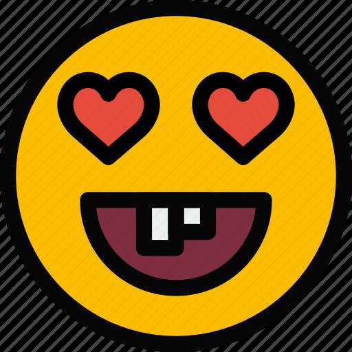 emoji, emoticon, face, fool, love icon