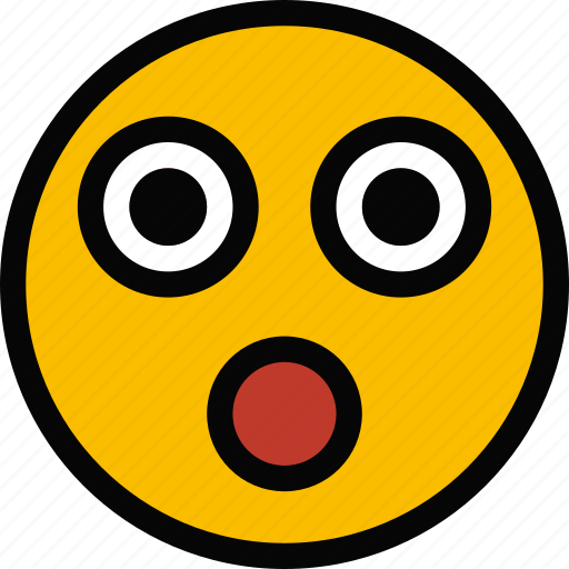 emoji, emoticon, face, shocked icon