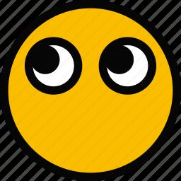emoji, emoticon, face, thinking icon
