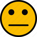 emoji, emoticon, face, impassive icon