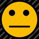 emoticon, emoji, impassive, face