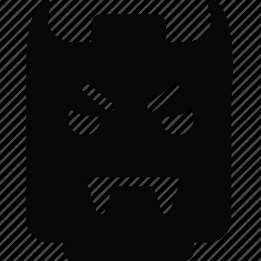 emoji, emoticon, face, vampire icon