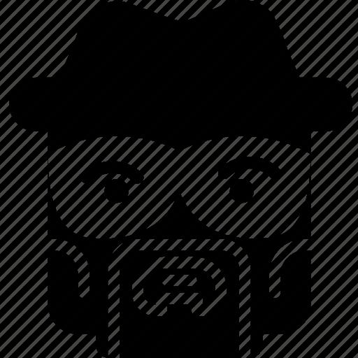 emoji, emoticon, face, heisenberg icon