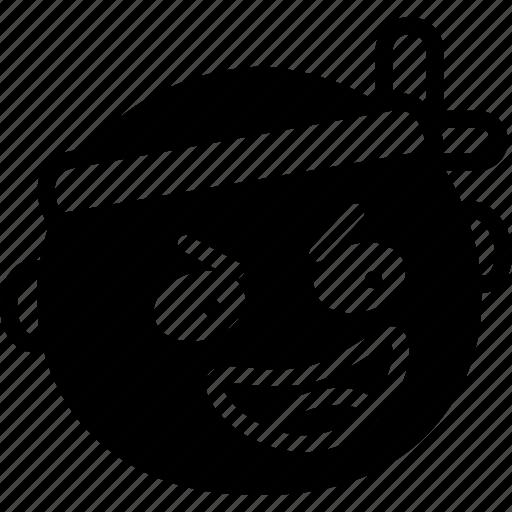 emoji, emoticon, face, kamikaze icon