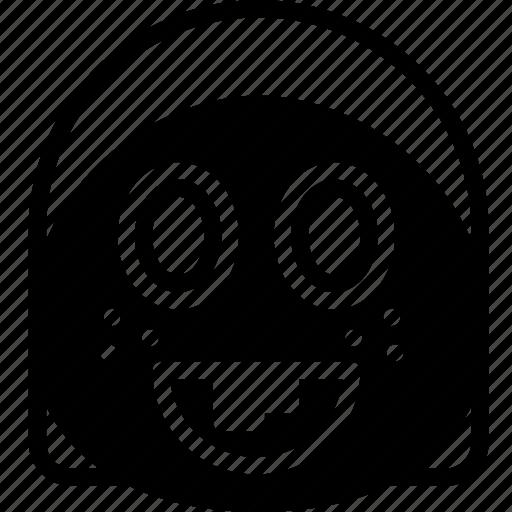 amazed, emoji, emoticon, face icon