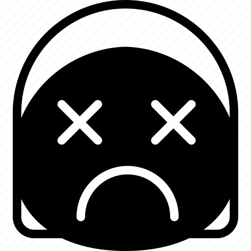 dead, emoji, emoticon, face, girl icon