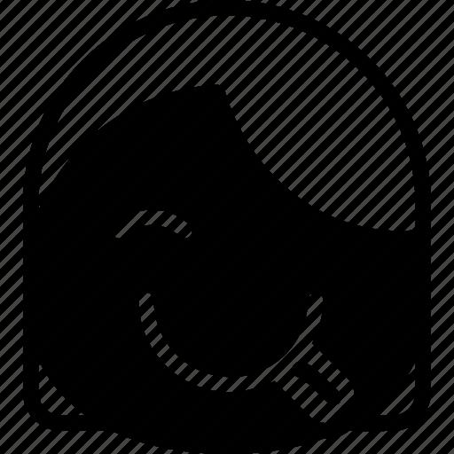 emoji, emoticon, face, girl, goofy icon