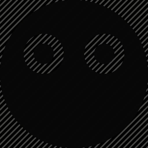 emoji, emoticon, face, silent icon
