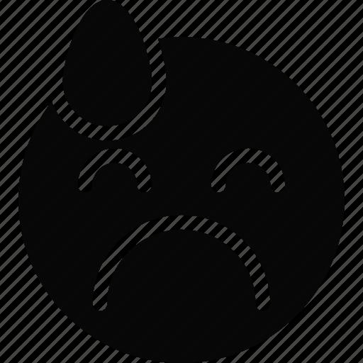 emoji, emoticon, face, sad, very icon