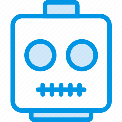 emoji, emoticon, face, skeleton icon