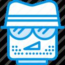 emoticon, emoji, agent, face