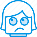 emoticon, emoji, dissapointed, face