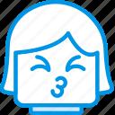 emoticon, emoji, kiss, face