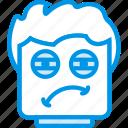 emoji, emoticon, face, tired