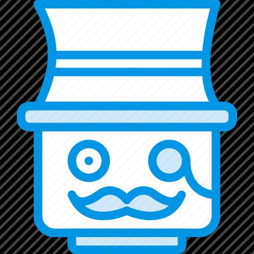 emoji, emoticon, face, sir icon