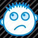dissapointed, emoji, emoticon, face