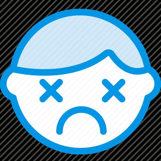 dead, emoji, emoticon, face icon