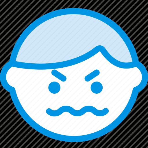 emoji, emoticon, face, pissed icon
