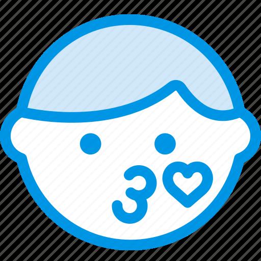 emoji, emoticon, face, flirty icon