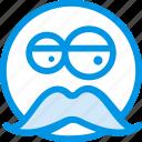 emoji, emoticon, face, man, old