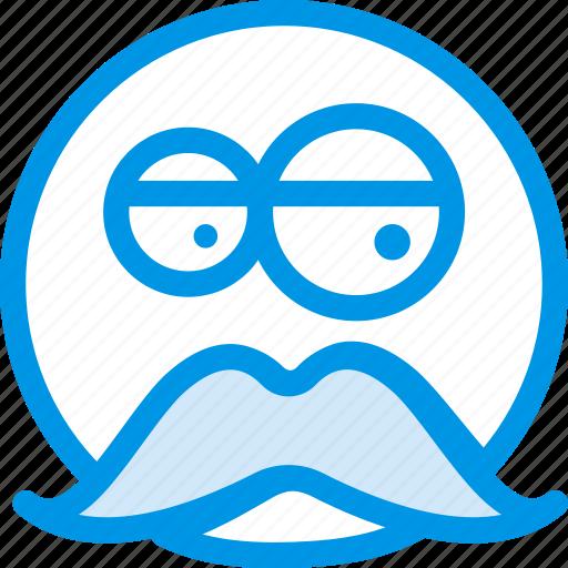 emoji, emoticon, face, man, old icon