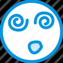 dazed, emoji, emoticon, face