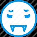 emoji, emoticon, face, vampire