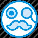 emoji, emoticon, face, gentleman
