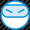 emoji, emoticon, face, ninja