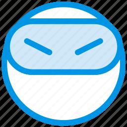 emoji, emoticon, face, ninja icon