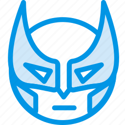 emoji, emoticon, face, wolverine icon
