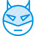 emoji, emoticon, face, superhero