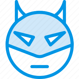 emoji, emoticon, face, superhero icon