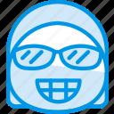 emoticon, smug, emoji, face