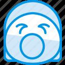 emoji, emoticon, face, screaming