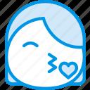 emoji, emoticon, face, flirt