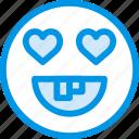 emoticon, fool, emoji, love, face
