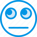 emoticon, sceptic, emoji, face