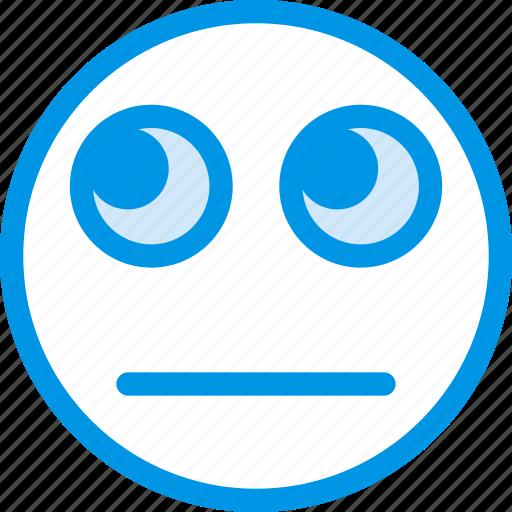 emoji, emoticon, face, sceptic icon