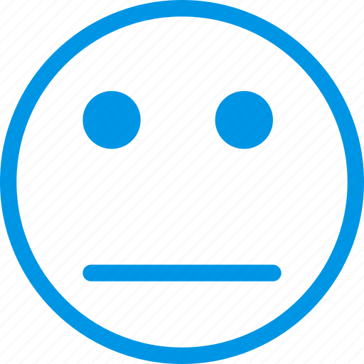 emoji, emoticon, face, impassive icon